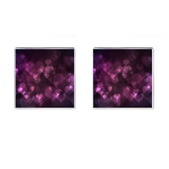 Purple Bokeh Square Cuff Links