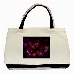 Purple Bokeh Black Tote Bag