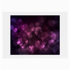 Purple Bokeh Twin Sided Handkerchief