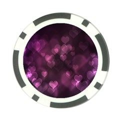 Purple Bokeh Poker Chip