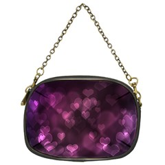Purple Bokeh Single Sided Evening Purse