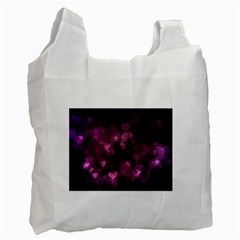 Purple Bokeh Single-sided Reusable Shopping Bag