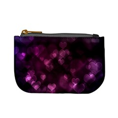 Purple Bokeh Coin Change Purse