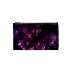 Purple Bokeh Small Makeup Purse