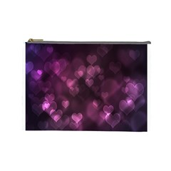 Purple Bokeh Large Makeup Purse