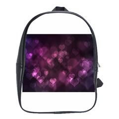 Purple Bokeh Large School Backpack