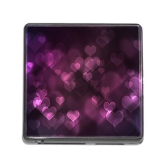 Purple Bokeh Card Reader with Storage (Square)