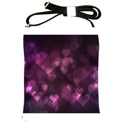 Purple Bokeh Cross Shoulder Sling Bag
