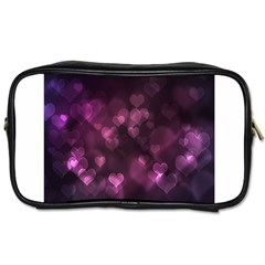 Purple Bokeh Twin Sided Personal Care Bag