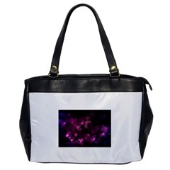 Purple Bokeh Single Sided Oversized Handbag