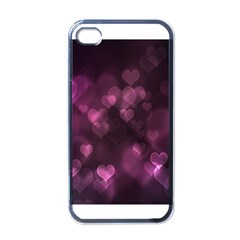 Purple Bokeh Black Apple iPhone 4 Case
