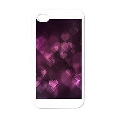 Purple Bokeh White Apple Iphone 4 Case