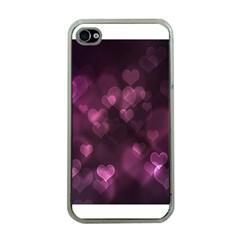 Purple Bokeh Apple Iphone 4 Case (clear)