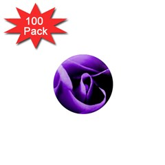 Purple Rose 100 Pack Mini Magnet (round)