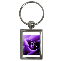 Purple Rose Key Chain (rectangle)