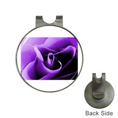 Purple Rose Hat Clip with Golf Ball Marker