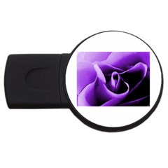 Purple Rose 4Gb USB Flash Drive (Round)