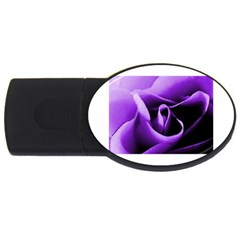 Purple Rose 4gb Usb Flash Drive (oval)