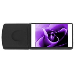 Purple Rose 4gb Usb Flash Drive (rectangle)