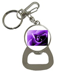 Purple Rose Key Chain with Bottle Opener