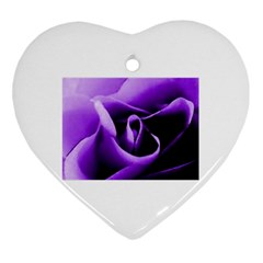 Purple Rose Heart Ornament (Two Sides)