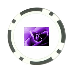 Purple Rose Poker Chip