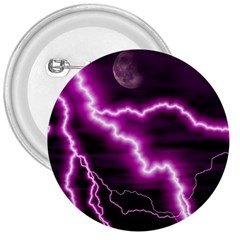 Purple Lightning Large Button (round)