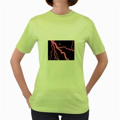 Purple Lightning Green Womens  T-shirt
