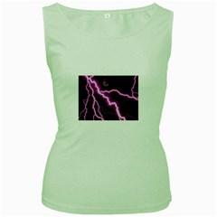 Purple Lightning Green Womens  T-shirt