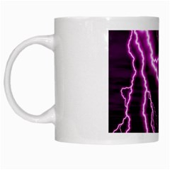 Purple Lightning White Coffee Mug