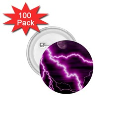 Purple Lightning 100 Pack Small Button (round)