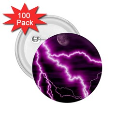 Purple Lightning 100 Pack Regular Button (Round)