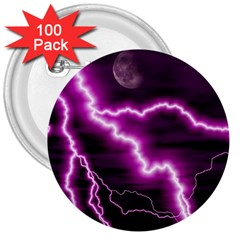 Purple Lightning 100 Pack Large Button (round)