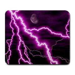 Purple Lightning Large Mouse Pad (Rectangle)