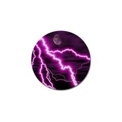 Purple Lightning 10 Pack Golf Ball Marker