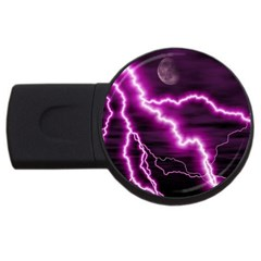 Purple Lightning 2Gb USB Flash Drive (Round)