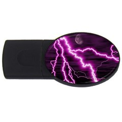 Purple Lightning 1Gb USB Flash Drive (Oval)