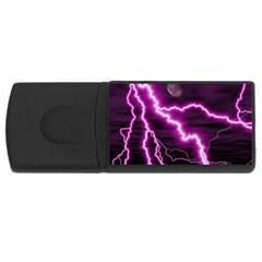 Purple Lightning 2Gb USB Flash Drive (Rectangle)