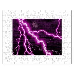 Purple Lightning Jigsaw Puzzle (Rectangle)