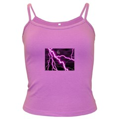 Purple Lightning Dark Colored Spaghetti Top