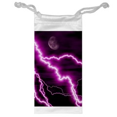 Purple Lightning Glasses Pouch