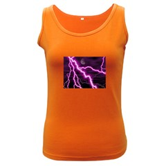 Purple Lightning Dark Colored Womens'' Tank Top