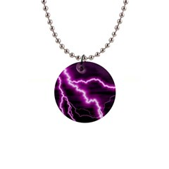 Purple Lightning Mini Button Necklace