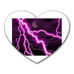 Purple Lightning Mouse Pad (heart)