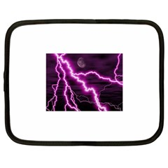 Purple Lightning 12  Netbook Case