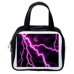 Purple Lightning Single Sided Satchel Handbag