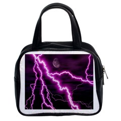 Purple Lightning Twin-sided Satched Handbag