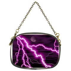 Purple Lightning Twin-sided Evening Purse