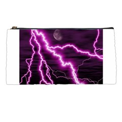 Purple Lightning Pencil Case