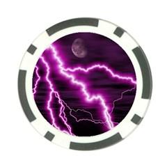 Purple Lightning 10 Pack Poker Chip